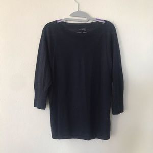 THE LIMITED NAVY BLUE BLOUSE TOP